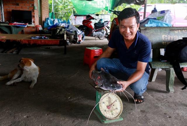 Mỗi năm, anh Hiếu thu nhập hơn 1 tỷ đồng từ tiền bán cá lăng giống.