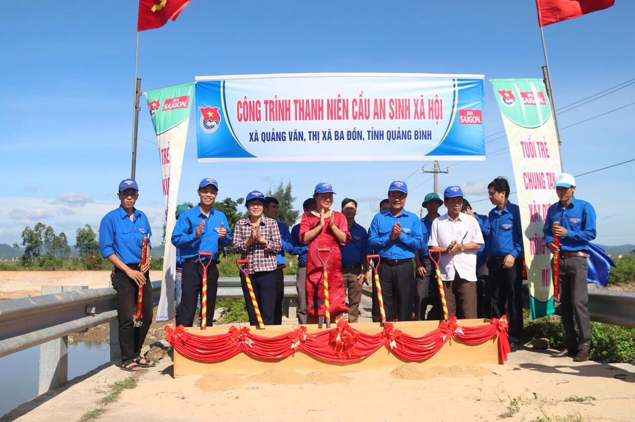 Sabeco hỗ trợ 1,5 tỷ  đồng xây dựng cầu dân sinh tại Quảng Bình
