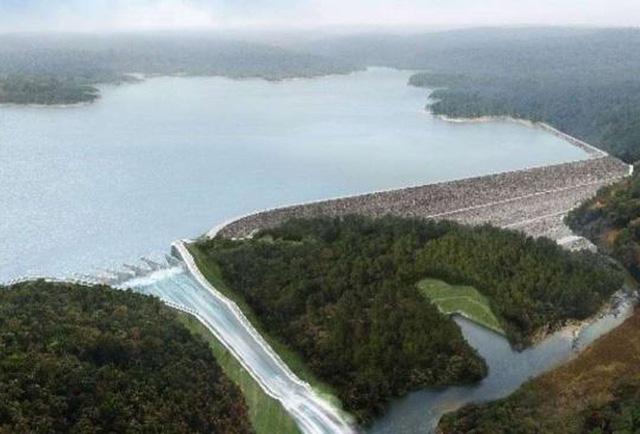 Phối cảnh đập thủy điện Xe Pian Xe Namnoy (Ảnh: PNPC)