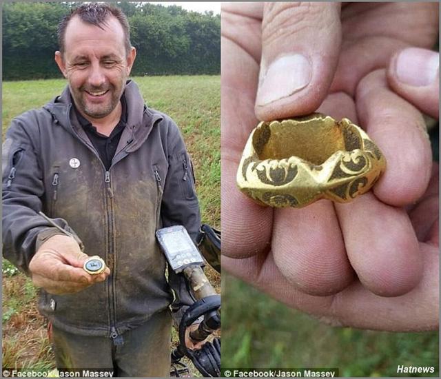 """Ăn may """"vớ"""" được nhẫn vàng 1.800 năm tuổi"""