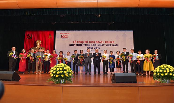Công ty CP Thương mại Thái Hưng nằm  trong TOP 1000 DN nộp thuế TNDN lớn nhất VN 2017