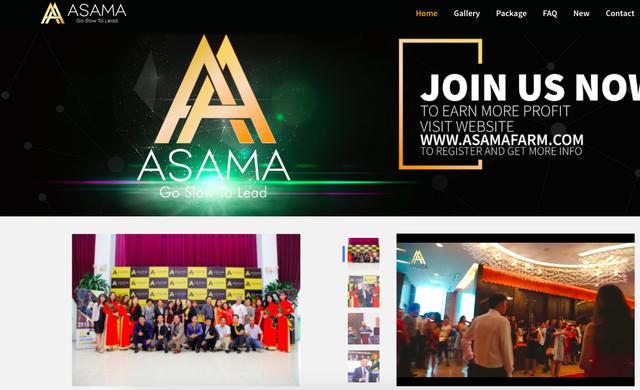 Công ty tiền ảo Asama Mining được giới thiệu rầm rộ trên website và trên youtute.