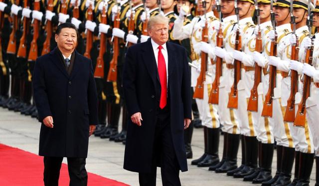 Chủ tịch Trung Quốc Tập Cận Bình đón Tổng thống Mỹ Donald Trump tại Bắc Kinh năm 2017 (Ảnh: Reuters)
