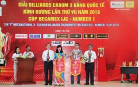 Khởi tranh giải Billiards Carom 3 băng quốc tế Bình Dương cúp Becamex IJC