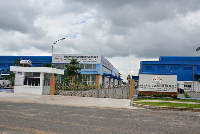 """""""Nhà máy ô tô chuyên dùng Samco"""" hiện nay chính là """"Nhà máy ô tô thương mại Samco (SCV)"""" trước đây cùng nằm tại lô E3, E4 Khu công nghiệp Cơ khí ô tô TPHCM (huyện Củ Chi). Ảnh: Đại Việt"""