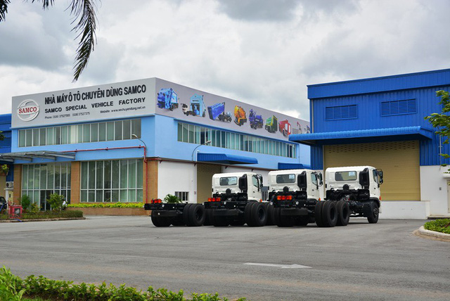 Sau khi không tiếp tục sản xuất dòng xe Fuso Rosa thì Samco tiếp tục sản xuất ô tô chuyên dùng. Ảnh: Đại Việt