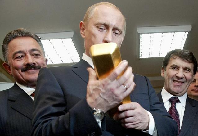 Nga tích trữ vàng kỷ lục đối phó lệnh trừng phạt của Mỹ