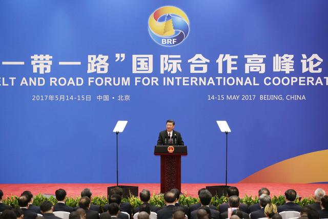 Ông Tập Cận Bình phát biểu tại Diễn đàn Hợp tác Quốc tế Vành đai và Con đường tại Bắc Kinh hồi tháng 5/2017 (Ảnh: Tân Hoa Xã)