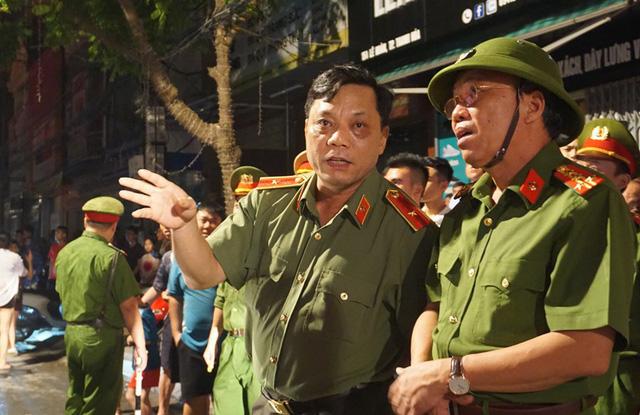 Thiếu tướng Nguyễn Hải Trung, Giám đốc Công an tỉnh Thanh Hóa chỉ đạo trực tiếp tại hiện trường