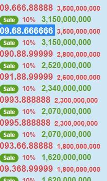Những chiếc sim tiền tỷ đang được rao bán trên thị trường.