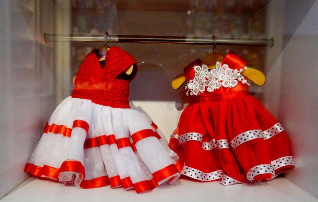 Những bộ quần áo được bé xíu dành cho búp bê.