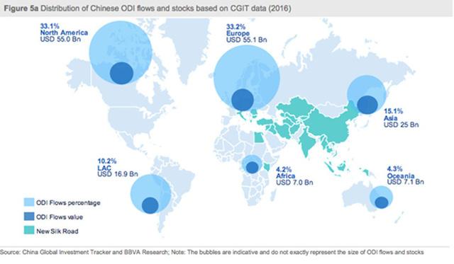 Trung Quốc mang tiền tấn đầu tư khắp thế giới