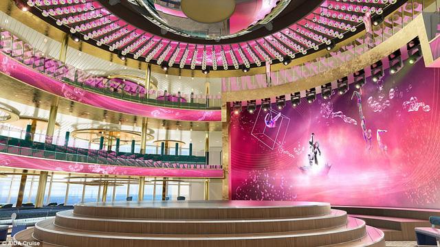 Nhà hát 3 tầng trên chiếc siêu du thuyền sang chảnh.