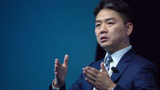 Ông Richard Liu, người sáng lập và CEO của JD.com. (Nguồn: Billy H.C. Kwok | Bloomberg | Getty Images)