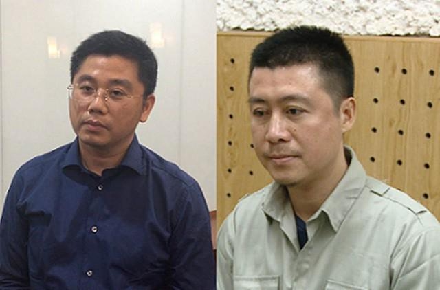 Bị can Nguyễn Văn Dương (đeo kính) và Phan Sào Nam.
