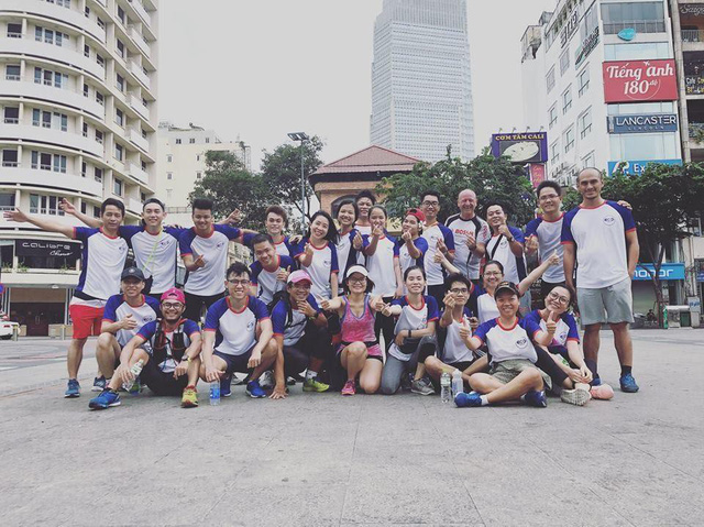Buổi chạy kết nối tinh thần teamwork cao