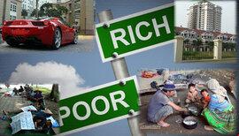 """Những con số """"giật mình"""" về khoảng cách giàu nghèo tại châu Á"""