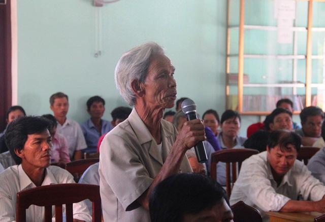 Người dân thôn Vĩnh Hội bức xúc vì dự án treo gần 13 năm qua.