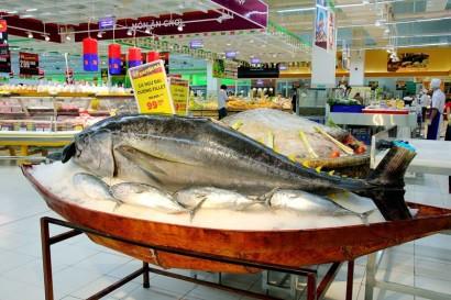 Cửa vào siêu thị nội địa của thuỷ sản Việt gặp gian nan (ảnh minh hoạ:VASEP)