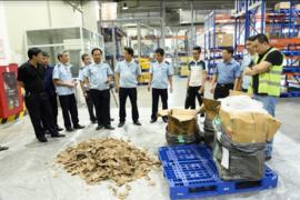 Bắt giữ gần 1 tấn ngà voi và vẩy tê tê tại cảng hàng không Nội Bài