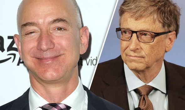 Hiện tại, khối tài sản của tỷ phú Jeff Bezos đang nhiều hơn tỷ phú Bill Gates 63 tỷ USD. (Nguồn: express.co.uk)