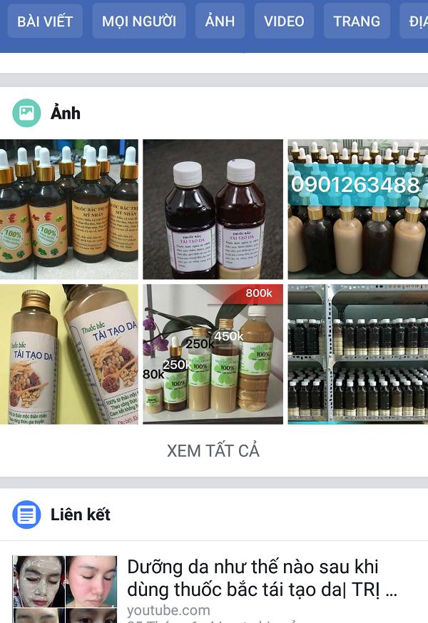 Một trong những loại thuốc y học cổ truyền rao bán trên facebook