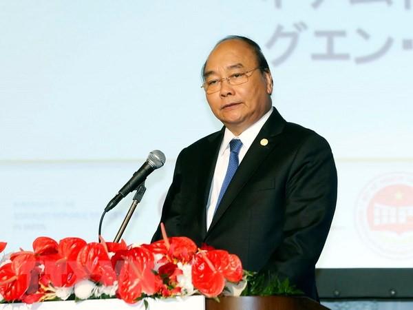 Thủ tướng Nguyễn Xuân Phúc tại Hội nghị xúc tiến đầu tư Việt Nam - Nhật Bản, sáng 10/10, tại Tokyo (ảnh: TTXVN)