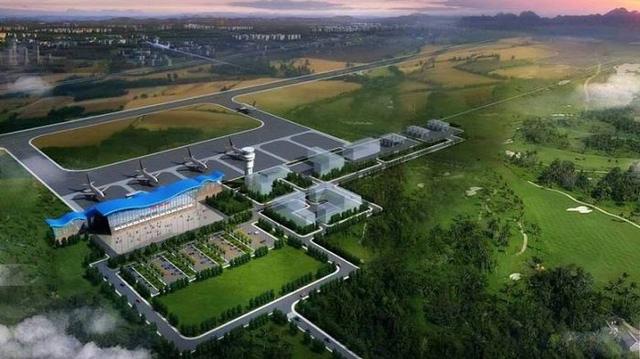 Đồ họa mô phỏng dự án sân bay được Trung Quốc rót vốn (Ảnh: Construction Review Online)