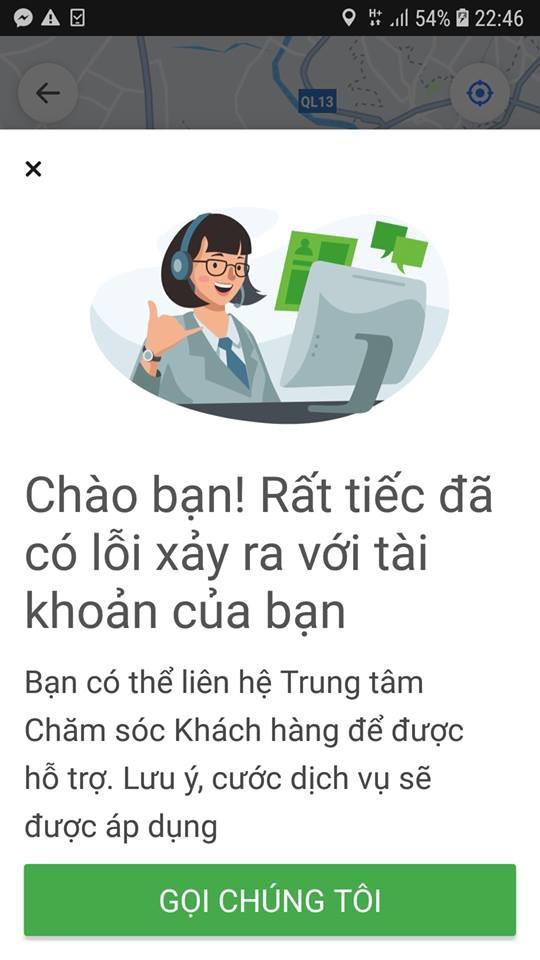 Nhiều khách hàng than vãn không thể bắt được xe mặc dù đang đứng trong phạm vi hoạt động của Go-Viet.