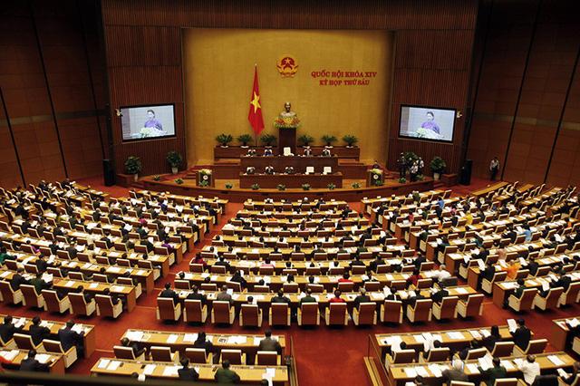 Kỳ họp thứ 6 Quốc hội XIV chính thức khai mạc sáng nay. (Ảnh: Việt Hưng)