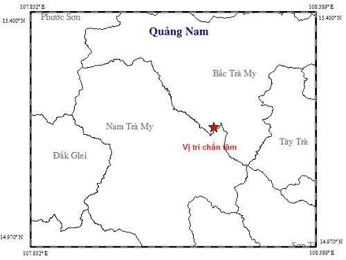 Trận động đất xảy ra vào chiều ngày 2/11. Ảnh: Viện Vật lý Địa cầu