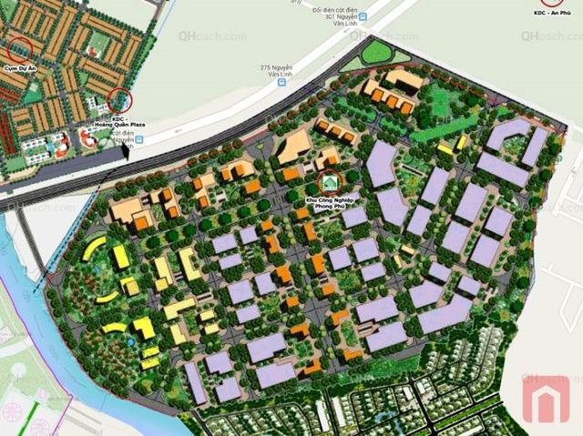 Dự án Khu công nghiệp Phong Phú có quy mô 134ha, trong đó có 67ha đất khu công nghiệp, 67ha đất dành cho khu dịch vụ công nghiệp