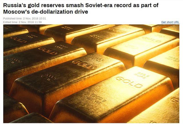 Nga đẩy mạnh mua vàng.