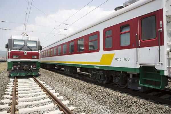 Tàu vận tải hàng hóa nối Addis Ababa, thủ đô của Ethiopia với nước Djibouti đã được khánh thành trong năm nay nhưng vẫn chưa được sử dụng vì chưa hoạt động đã thấy lỗ. (Nguồn: ZACHARIAS ABUBEKER | AFP)