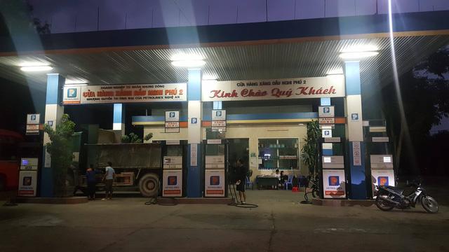 Cửa hàng xăng dầu Nghi Phú 2 nơi xảy ra sự việc.