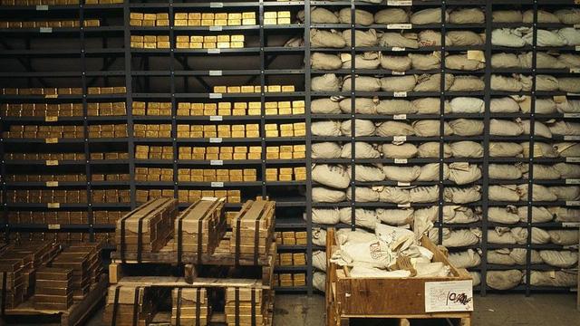 Venezuela gửi vàng tại kho vàng của nhiều ngân hàng trung ương thế giới. (Ảnh: Getty)