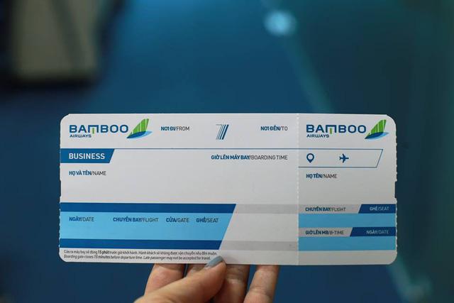 Một mẫu boarding pass dự kiến của Bamboo Airways