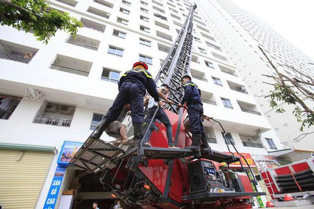Còn nhiều công trình chung cư ở Hà Nội vi phạm quy định về phòng cháy, chữa cháy/Ảnh: VTV