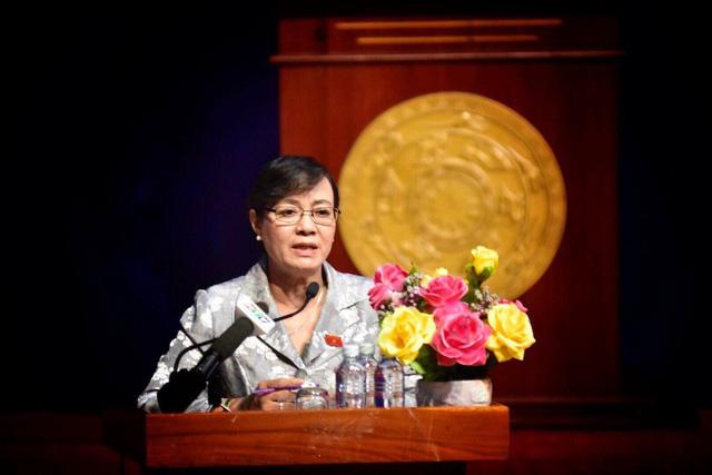 Chủ tịch HĐND TPHCM Nguyên Thị Quyết Tâm cho biết tinh thần của Ban Thường vụ Thành ủy là ai sai phạm thì xử lý