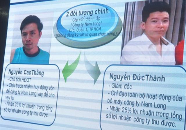 Tổ chức tín dụng đen của Nguyễn Đức Thành và Nguyễn Cao Thắng nhanh chóng vươn xa đến các địa phương trong thời gian ngắn hoạt động.