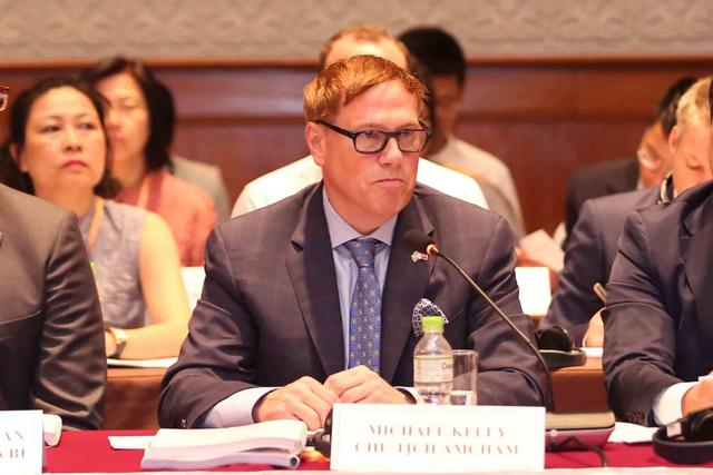 Chủ tịch Amcham nhắc tới vấn đề tận dụng sự căng thẳng trong thương mại giữa Hoa Kỳ-Trung Quốc.