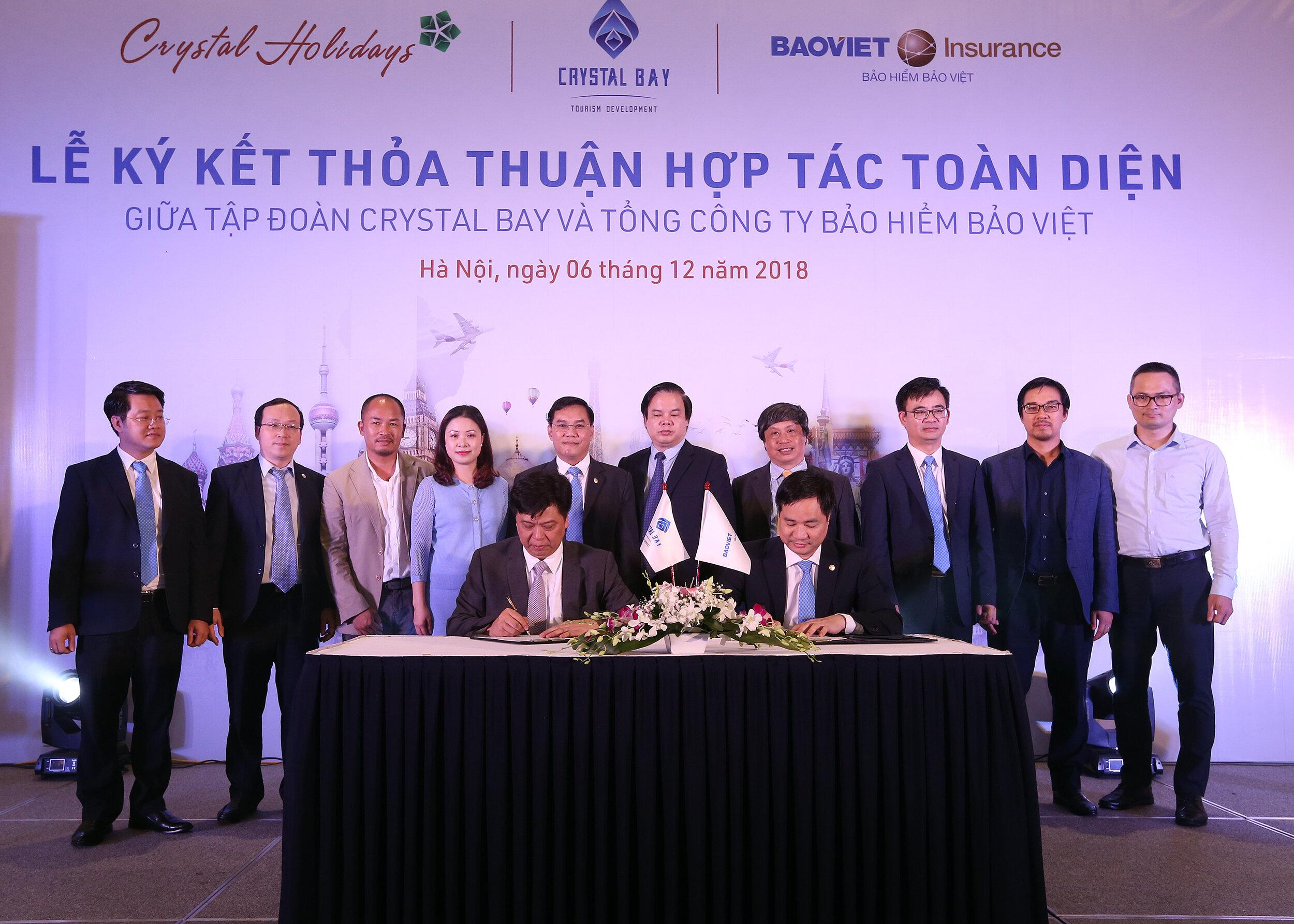 Crystal Bay ký thỏa thuận hợp tác toàn diện với Bảo hiểm Bảo Việt