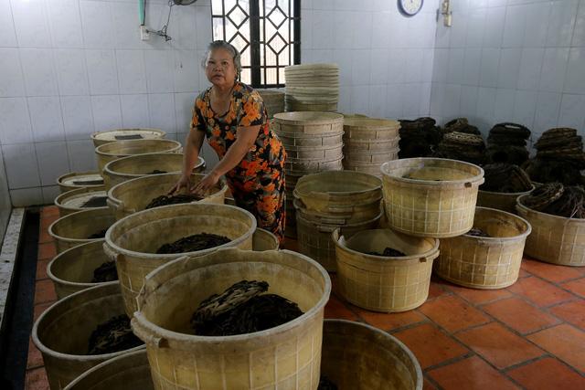 Mỗi ngày, anh Tùng mang giao cho các nhà hàng khoảng 10kg dế thịt.