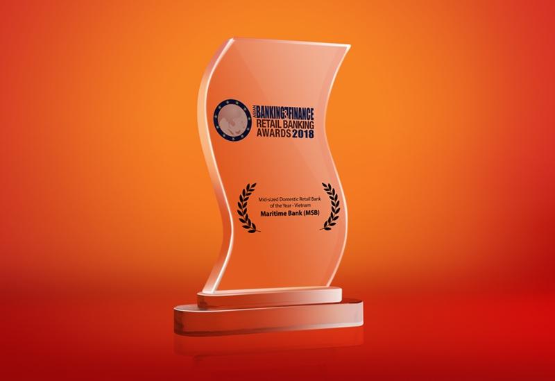 Maritime Bank được bình chọn ngân hàng bán lẻ tốt nhất Việt Nam 2018