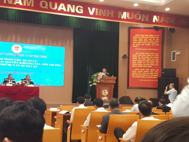 TS. Hồ Đức Phớc, Tổng Kiểm toán nhà nước phát biểu khai mạc Hội thảo