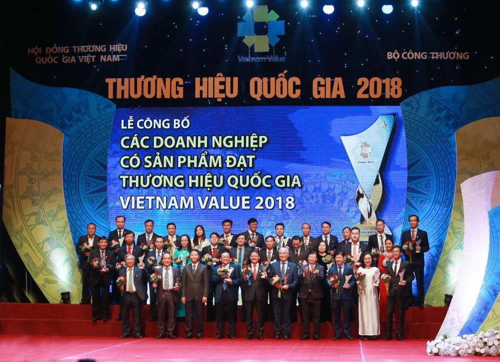 Tân Hiệp Phát tiếp tục là doanh nghiệp có sản phẩm đạt Thương hiệu Quốc gia 2018