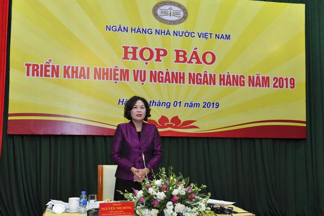Sáng nay (7/1), Ngân hàng Nhà nước Việt Nam (NHNN) đã tổ chức họp báo về kết quả hoạt động năm 2018 và triển khai nhiệm vụ ngành ngân hàng năm 2019.