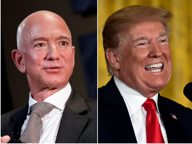 """Ông Trump """"đá xoáy"""" tỷ phú Jeff Bezos vì ly hôn, phải chia đôi tài sản - Ảnh 1."""