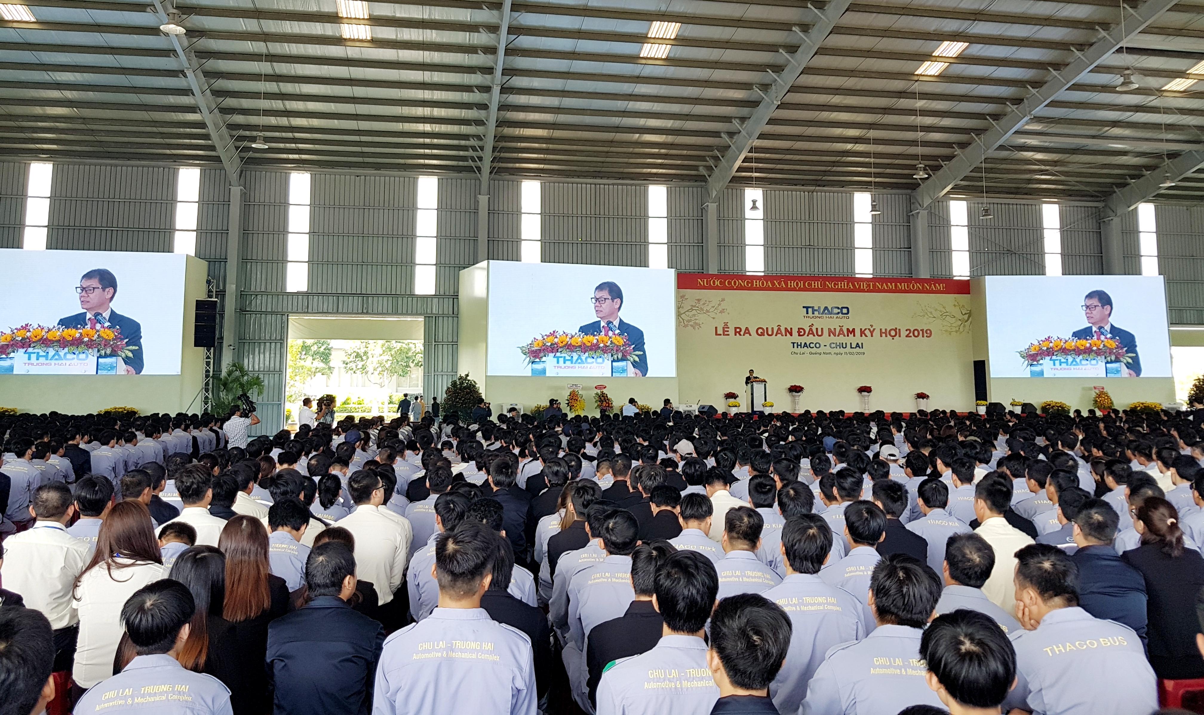 Năm 2019, Thaco đặt mục tiêu sản xuất gần 110 nghìn ô tô các loại