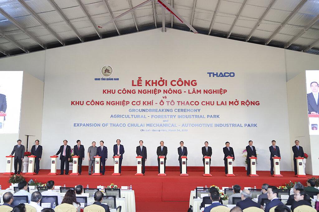 THACO khởi công hàng loạt dự án đầu tư tại khu kinh tế mở Chu Lai
